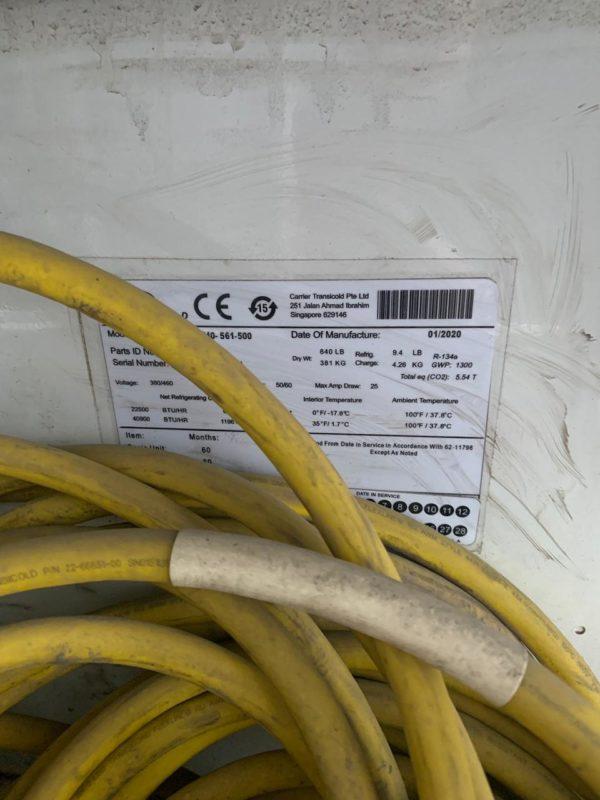 Рефконтейнер 40 футов Carrier 2020 г. SEBU 1142844